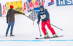 25.01.2020, Streif, Kitzbühel, AUT, FIS Weltcup Ski Alpin, im Rahmen der KitzCharityTrophy 2020 am Samstag, 25. Jänner 2020, auf der Streif in Kitzbühel. // f.l. Sebastian Vettel and Martjin Van Koten during the KitzCharityTrophy 2020 at the Streif in Kitzbühel, Austria on 2020/01/25, im Bild v.l. Sebastian Vettel, Martjin Van Koten // f.l. Sebastian Vettel and Martjin Van Koten during the KitzCharityTrophy 2020 at the Streif in Kitzbühel, Austria on 2020/01/25. EXPA Pictures © 2020, PhotoCredit: EXPA/ Stefan Adelsberger