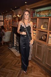 Natalie Pinkham at the launch of Mr Fogg's Society of Exploration, 1a Bedford Street, London,  England. 13 September 2018.