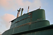 Israel, Haifa, The Clandestine Immigration and Navy Museum INS GAL submarine
