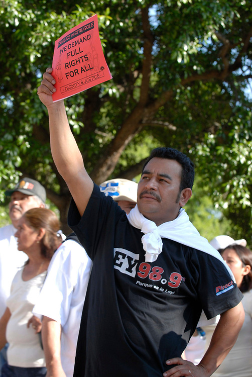 April 10th, 2007 Austin, Texas: Immigrant Rights Rally.  ©Marjorie Cotera / Daemmrich Photos /