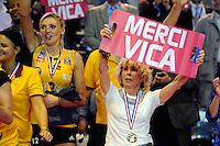 joie Victoria RAVVA / Anny COURTADE  - 09.05.2015 - Cannes / Le Cannet - Finale Ligue A Feminine<br />Photo : Nolwenn Le Gouic / Icon Sport
