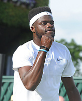 Tennis - 2017 Wimbledon Championships - Week One, Tuesday [Day Two]<br /> <br /> Men's Singles, First Round match<br /> Robin Haase (Ned) vs Frances Tiafoe (USA) <br /> <br /> Frances Tiafoe on court 6<br /> <br /> COLORSPORT/ANDREW COWIE