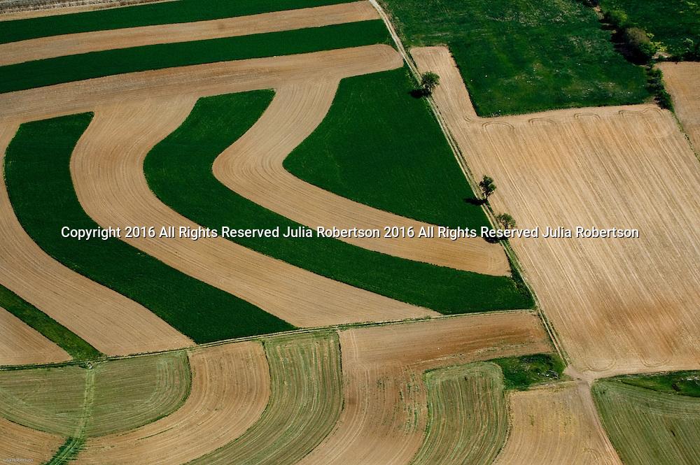 Aerial views of Amish farm lancaster Pa