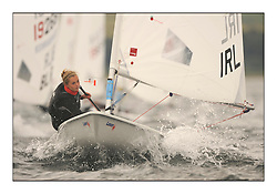 Tiffany Brien, IRL 192697.Day 2 brought Easterly changeable conditions for the Laser Radial World Championships, taking place at Largs, Scotland GBR. ..118 Women from 35 different nations compete in the Olympic Women's Laser Radial fleet and 104 Men from 30 different nations. .All three 2008 Women's Laser Radial Olympic Medallists are competing. .The Laser Radial World Championships take place every year. This is the first time they have been held in Scotland and are part of the initiaitve to bring key world class events to Britain in the lead up to the 2012 Olympic Games. .The Laser is the world's most popular singlehanded sailing dinghy and is sailed and raced worldwide. ..Further media information from .laserworlds@gmail.com.event press officer mobile +44 7775 671973  and +44 1475 675129 .