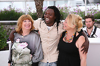 Actress Margarethe Tiesl, Actor Peter Kazungu, Actress Inge Maux at the photocall for the film Paradies : Liebe at the 65th Cannes Film Festival. Friday 18th May 2012 in Cannes Film Festival, France.