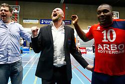 20150423 NED: Eredivisie ARBO Rotterdam Fusion - Zaanstad, Rotterdam <br />Rodin Merx, headcoach of ARBO Rotterdam Fusion, uitzinnig van vreugde<br />©2015-FotoHoogendoorn.nl / Pim Waslander