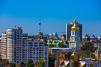 Kiev rooftops cityscape skyline  Ukraine Europe