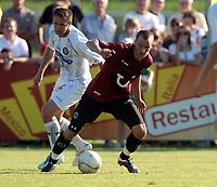 Fotball<br /> Østerrike<br /> 09.07.2011<br /> Foto: Gepa/Digitalsport<br /> NORWAY ONLY<br /> <br />  tipp3 Bundesliga powered by T-Mobile, 1. Deutsche Bundesliga, SK Sturm Graz vs Hannover 96, Vorbereitungsspiel. Bild zeigt Samir Muratovic (Sturm) und Henning Hauger (Hannover).
