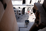 View of Peristyle from clock tower of Saint Doimus (Sveti Dujam), Cathedral of Saint Mary, Diocletian Palace, Split, Croatia