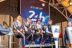 June 11, 2018 - Le Mans, FRANCE - 8 TOYOTA GAZOO RACING (JPN) TOYOTA TS050 HYBRID LMP1 SEBASTIEN BUEMI (CHE) KAZUKI NAKAJIMA (JPN) FERNANDO ALONSO  (Credit Image: © Panoramic via ZUMA Press)