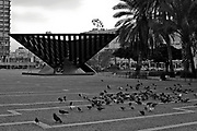 Israel, Tel Aviv The Holocaust memorial sculpture in the central square of Tel Aviv Rabin Square by Yigal Tumarkin