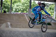 #105 (HAJKOVA Michaela) CZE at Round 5 of the 2019 UCI BMX Supercross World Cup in Saint-Quentin-En-Yvelines, France