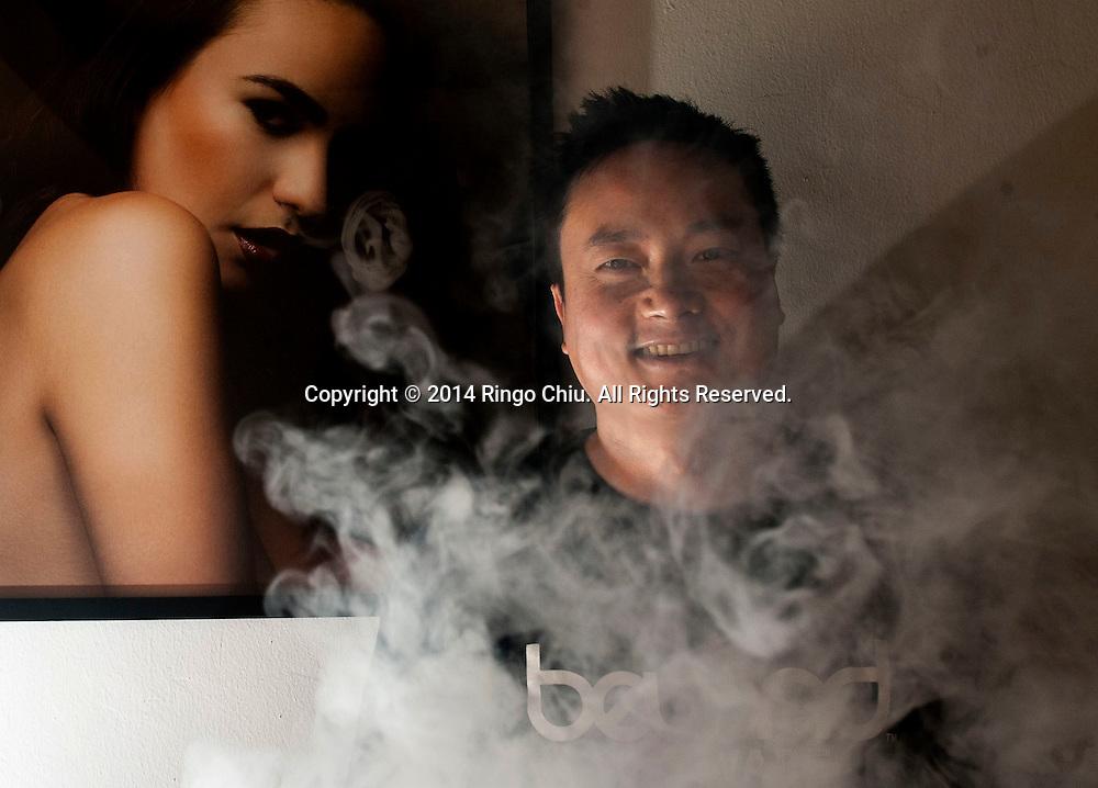 Billy Chen, co-founder of Beyond Vape. (Photo by Ringo Chiu/PHOTOFORMULA.com)