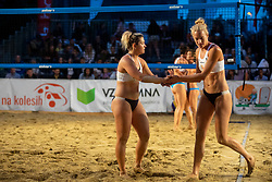 Tjasa Jancar and Tjasa Kotnik during Final of Beach Volleyball Slovenian National Championship 2018, on July 21, 2018 in Kranj, Slovenia. Photo by Urban Urbanc / Sportida
