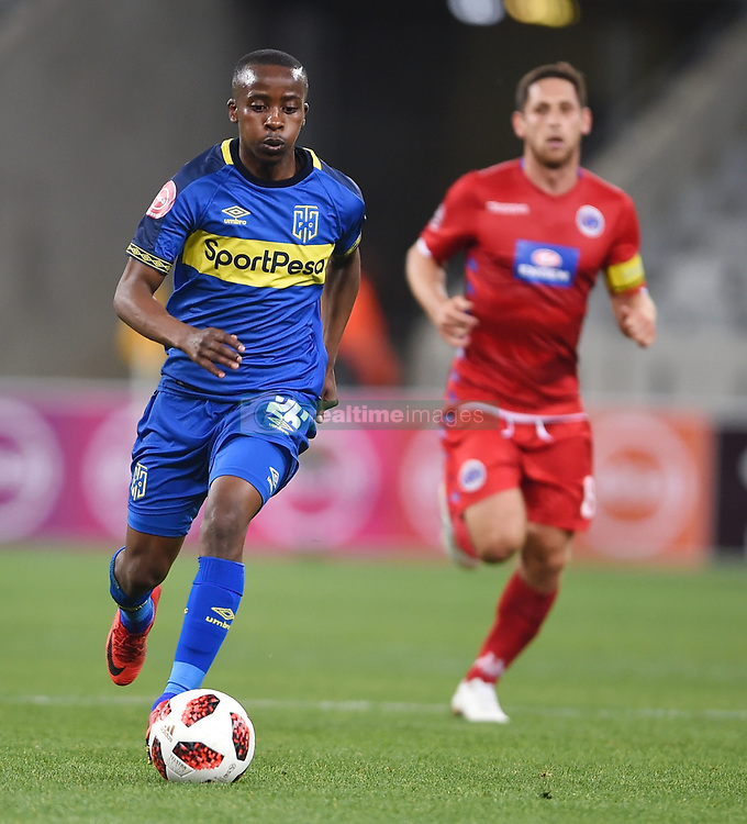 Cape Town-180804 Cape Town City midfielder Thabo Nodada  in a game against  Supersport at Cape Town Stadium.photograph:Phando Jikelo/African News Agency/ANAr