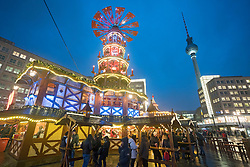 Christmas Market in Alexanderplatz, Berlin, Germany, Opening night November 2017. attack in the city.