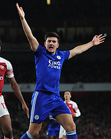 Football - 2018 / 2019 Premier League - Arsenal vs. Leicester City<br /> <br /> Harry Maguire of Leicester at The Emirates.<br /> <br /> COLORSPORT/ANDREW COWIE