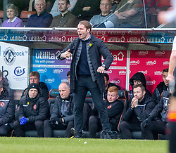 Dundee United's manager Robbie Neilson. Dundee United 1 v 1 Partick Thistle, Scottish Championship game played 7/3/2020 at Dundee United's stadium Tannadice Park.