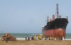 May 9, 2017 - Pakistan - HUB, PAKISTAN, MAY 09: A big ship named TAMREY for breaking at Giddani ship breaking .yard in Hub on Tuesday, May 09, 2017. (Credit Image: © PPI via ZUMA Wire)