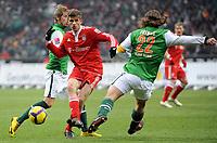 v.l. Aaron Hunt , Thomas Mueller , Torsten Frings Bremen<br /> Bundesliga SV Werder Bremen - FC Bayern München<br /> <br /> Norway only