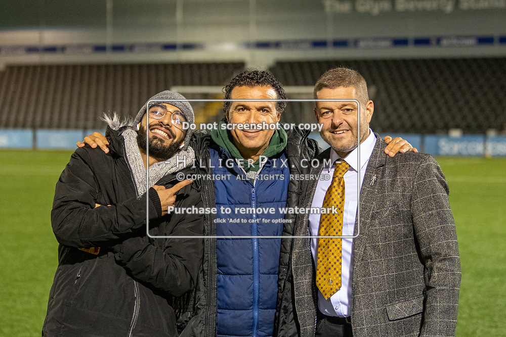 BROMLEY, UK - NOVEMBER 02: The BetVictor Isthmian Premier League match between Cray Wanderers and Worthing at Hayes Lane on November 2, 2019 in Bromley, UK. <br /> (Photo: Jon Hilliger)