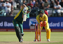 David Miller of South Africa drives a delivery during the 5th ODI match between South Africa and Australia held at Newlands Stadium in Cape Town, South Africa on the 12th October  2016<br /> <br /> Photo by: Shaun Roy/ RealTime Images