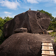 Rocks and pebbles on Sail Rock hill on Ko Similan #8