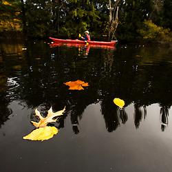 Kayaking the Nashua River in Groton, Massachusetts. MR