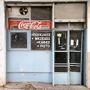 A closed down Taverna in Tzaferi Str, Gazi Athens