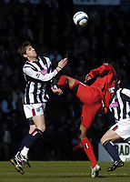 Fotball<br /> Premier League 2004/05<br /> West Bromwich v Birmingham<br /> 6. mars 2005<br /> Foto: Digitalsport<br /> NORWAY ONLY<br /> West Brom's Zoltan Gera (L) battles for the ball with Julian Gray
