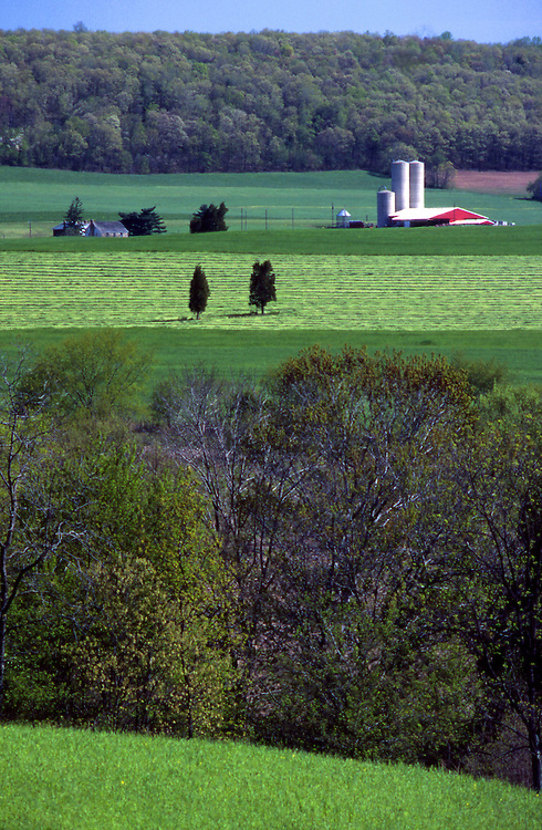 PA landscapes Aerial Photograph, Dauphin Co, Farm, Forest and Cultivation,  Pennsylvania Spring, Pennsylvania