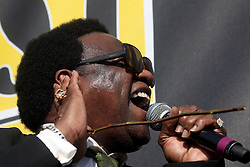 29 April 2012. New Orleans, Louisiana,  USA. <br /> New Orleans Jazz and Heritage Festival. <br /> Al Green, crooner, Gospel and Soul legend.<br /> Photo; Charlie Varley/varleypix.com