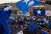 TEGUCIGALPA, HONDURAS - NOVEMBER 12, 2013: Honduras' presidential candidate, Juan Orlando Hernandez, speaks to supporters at rally in Tegucigalpa, Honduras. Honduras will hold general elections on November 24. CREDIT: Rodrigo Cruz for The New York Times