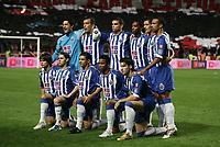 LISBOA 17 OCTOBER  2004: (L to R) standing up, VITOR  BAIA #99, JORGE COSTA #2, PEPE #7, MCCARTHY #77, RICARDO COSTA #5 and COSTINHA #6, Knell (L to R), DIEGO #16, MANICHE #18, DERLEI #11, CARLOS ALBERTO #19 and SEITARIDIS #22in the, 6¼ leg of the Super Liga, season 2004/2005, match SL Benfica v  FC Porto, held in Luz stadium, 17/10/2004  19:45<br />(PHOTO BY: NUNO ALEGRIA / AFCD)