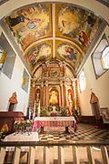 Interior of Iglesia de la Merced in Leon, Nicaragua