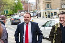 Pictured: Ian Murray with cakes baxcking the Labour campaign<br /> <br /> Scottish Labour's Ian Murray and Scottish Labour leader Kezia Dugdale hit the general election campaign trail in Edinburgh today for the first campaign event of Mr Murray's re-election campaign for the Edinburgh South constituency.<br /> Ger Harley | EEm 21 April 2017