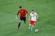 Piotr Zielinski of Poland and Alvaro Morata of Spain during the UEFA Euro 2020, Group E football match between Spain and Poland on June 19, 2021 at La Cartuja stadium in Seville, Spain - Photo Joaquin Corchero / Spain ProSportsImages / DPPI / ProSportsImages / DPPI