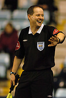 Photo. Glyn Thomas. <br /> <br /> Coventry City v Crewe Alexandra.<br /> <br /> FA Cup Third Round. 08/01/2005.<br /> <br /> Linesman Rob Lewis, who was at the centre of the furore at Old Trafford earlier in the week when Tottenham should have been awarded a goal but were not.