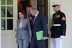 April 30, 2019 - Washington DC, USA - Speaker of the House Nancy Pelosi and Senate Majority Leader Chuck Schumer along with other Democrats come to the stake out outside of The West Wing following their meeting on infrastructure with President Trump  (Credit Image: © Christy Bowe/ZUMA Wire)