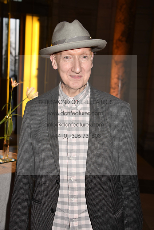 Stephen Jones at Fashioned From Nature held at The V&A Museum, London, England. 18 April 2018.