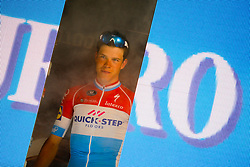 May 28, 2017 - Milan, Italy - Bob Jungels celebrates the white jersey of the 100th Edition of the Giro d'italia with arrival in Milan in Piazza Duomo (Credit Image: © Federica Manzin/Pacific Press via ZUMA Wire)