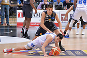 Marco Spanghero, Diego Flaccadori<br /> Dolomiti Energia Aquila Basket Trento - Enel New Basket Brindisi<br /> Lega Basket Serie A 2016/2017<br /> Trento, 22/01/2017<br /> Foto Ciamillo-Castoria