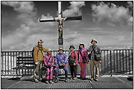 Day Tripper - Alpine Travels is a selective colour street photography series by photographer Paul Williams taken in 2008 at Zermatt Glacier View of tourists enjoying the high mountain views. .<br /> <br /> Visit our REPORTAGE & STREET PEOPLE PHOTO ART PRINT COLLECTIONS for more wall art photos to browse https://funkystock.photoshelter.com/gallery-collection/People-Photo-art-Prints-by-Photographer-Paul-Williams/C0000g1LA1LacMD8