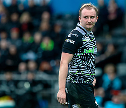 Luke Price of Ospreys<br /> <br /> Photographer Simon King/Replay Images<br /> <br /> European Rugby Challenge Cup Round 5 - Ospreys v Worcester Warriors - Saturday 12th January 2019 - Liberty Stadium - Swansea<br /> <br /> World Copyright © Replay Images . All rights reserved. info@replayimages.co.uk - http://replayimages.co.uk