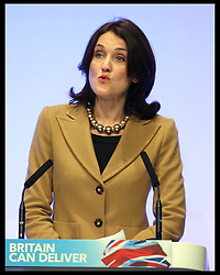 Northern Ireland Secretary Theresa Villiers speaking  at the Conservative Party Conference in Birmingham, Monday, 8th October October 2012. Photo by: Stephen Lock / i-Images
