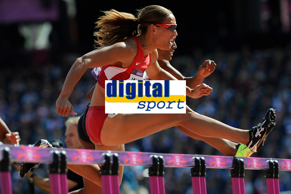 LONDON OLYMPIC GAMES 2012 - OLYMPIC STADIUM , LONDON (ENG) - 06/08/2012 - PHOTO : POOL / KMSP / DPPI<br /> ATHLETICS - WOMEN'S 100 M HURDLES - LEISEL JONES (USA)