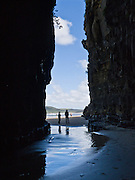 The South Pacific Ocean carved Cathedral Caves from the coast of the Catlins, on South Island, New Zealand.