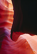 Sandstone fin in Lower Antelope Canyon, Navajo Reservation, Arizona.