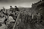 The Muslem funeral of 23 year old Baghkim Sinani in the mountain village of Kalimash, in the mountains of High Albania.