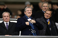 Roy Hodgson, the England manager watches the game from the stands. UEFA Europa League round of 16, 2nd leg match, Tottenham Hotspur v Borussia Dortmund at White Hart Lane in London on Thursday 17th March 2016<br /> pic by John Patrick Fletcher, Andrew Orchard sports photography.